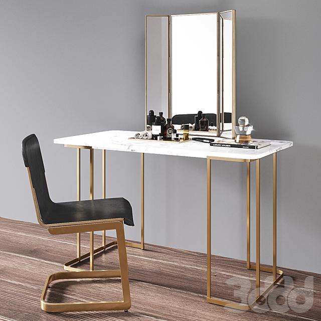 CB2 Dressing table set