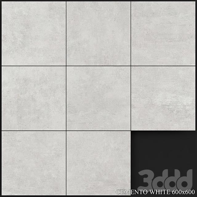 Yurtbay Seramik Cemento White 600x600
