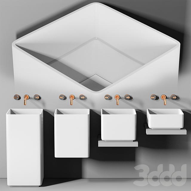 раковина Planit Triade Evolution Squared basin & Graff Mod plus faucet 2