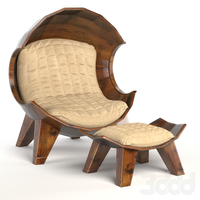 Stylish segment chair