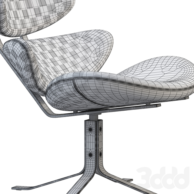 EJ 5 Corona Chair and ottoman