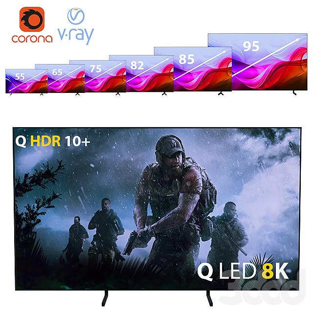 Телевизор Samsung 8K Smart TV QLED  QE75Q900R