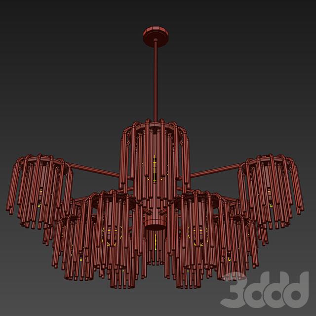 Gretta 12-LIGHT Sputnik modern-linear-chandelier