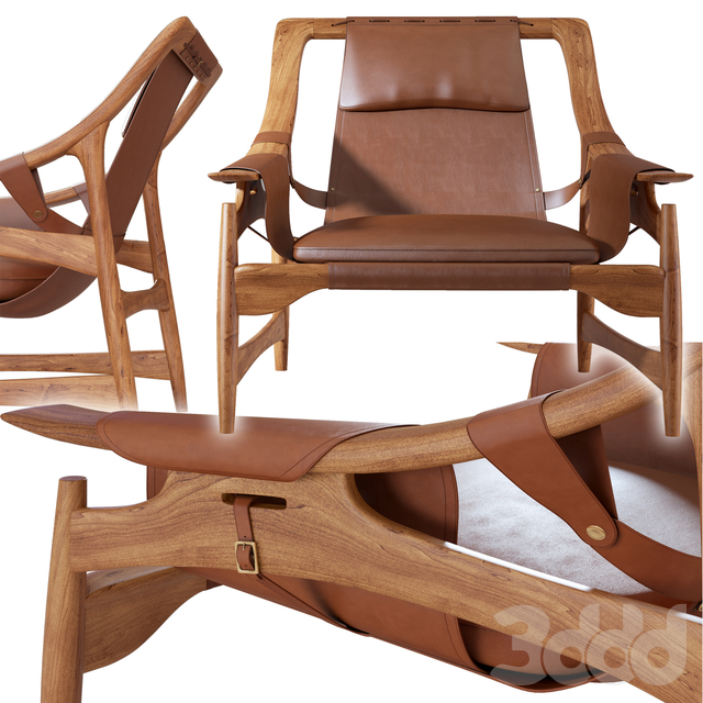 41-W D Andersag -Lounge Chair Leather