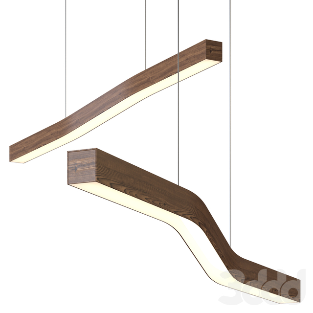 Camur LED Linear Pendant Light by Cerno
