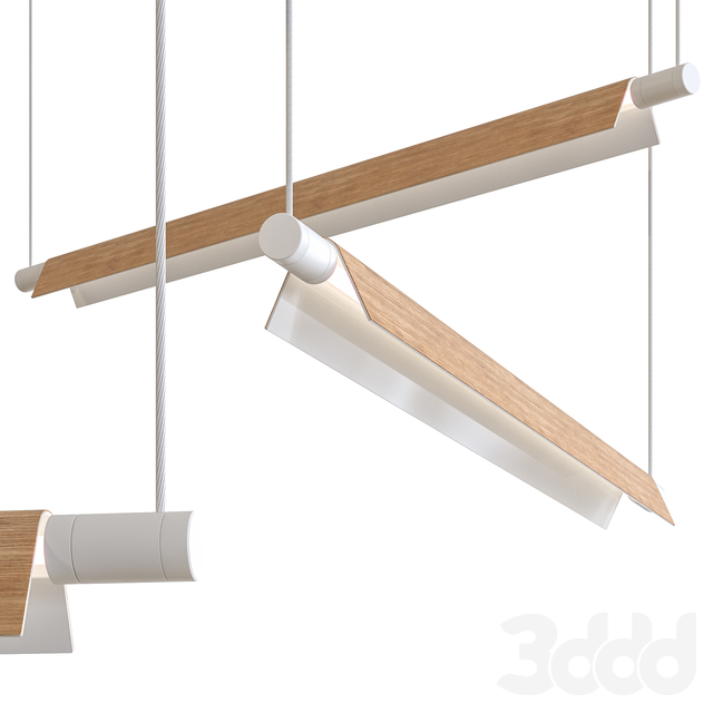 B.lux Roof S Wooden 160 Suspension Lamp