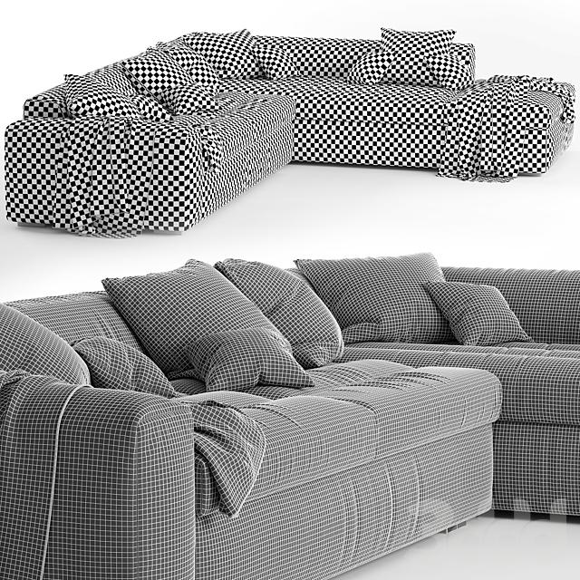Угловой диван Biba Salotti Brad