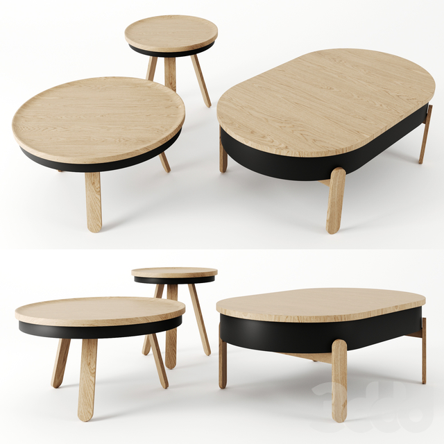 Batea Tables by Woodendot