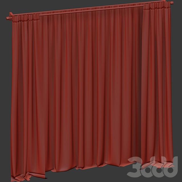 Чёрные шторы с тюлем