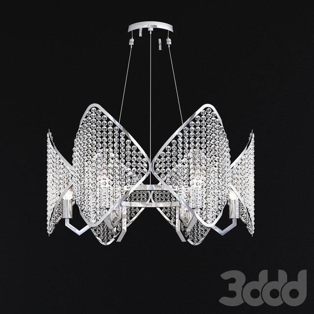 Ritz - Crystall Leaf Chandelier 6 hrom