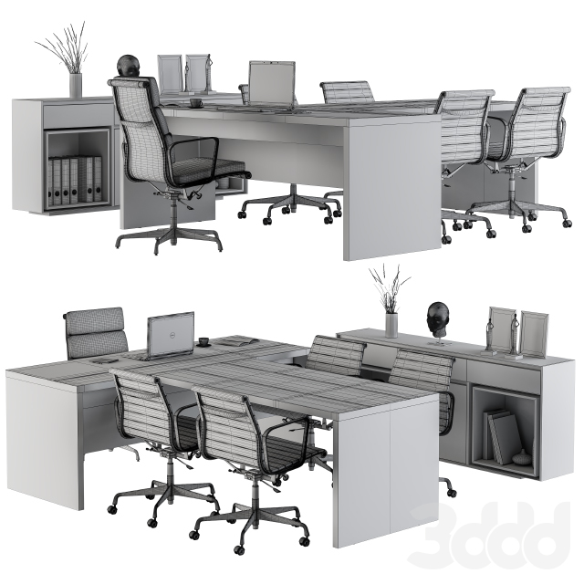 Office Boss Desk  with Chairs