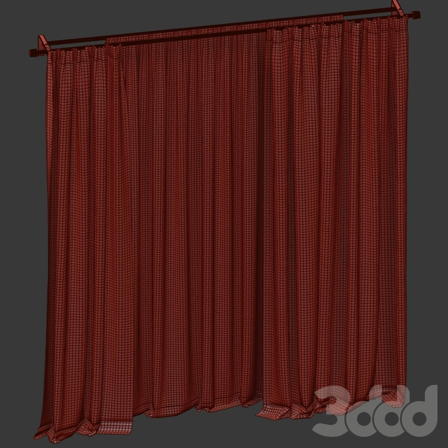 Бархатные шторы с тюлем.