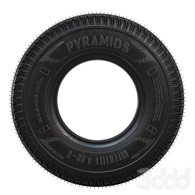 Bike tire tread Pyramids - 02