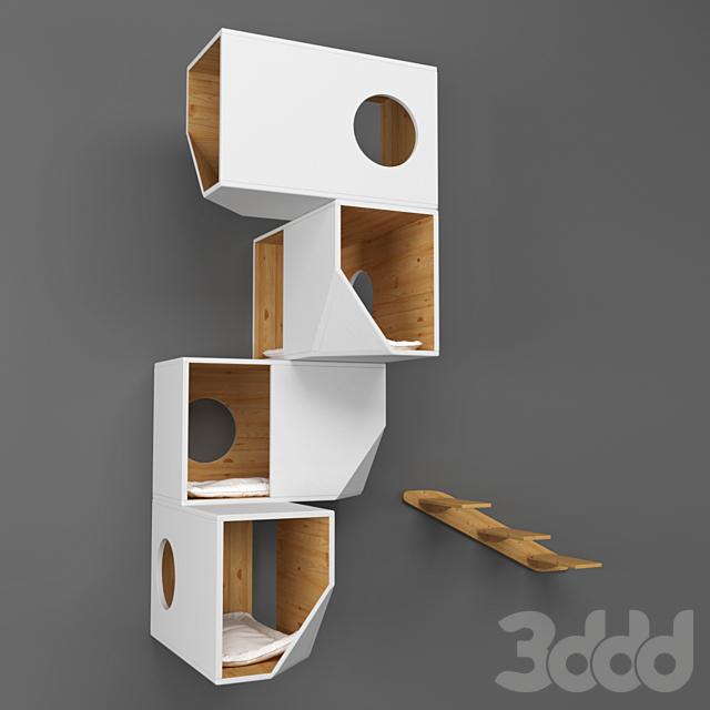 White Modular Cat House