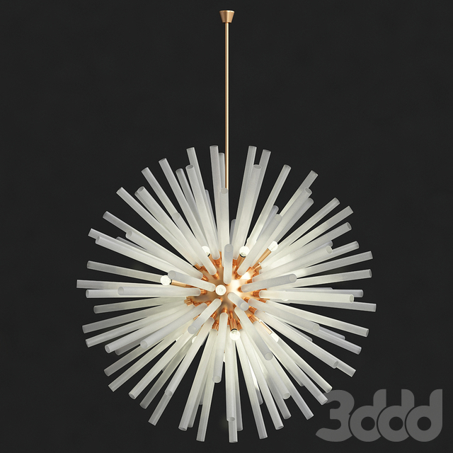 Vintage sputnik white glass