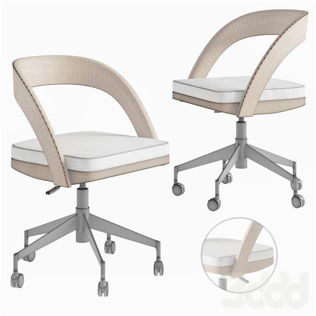 Clyne Wooden office chair Crate and Barrel