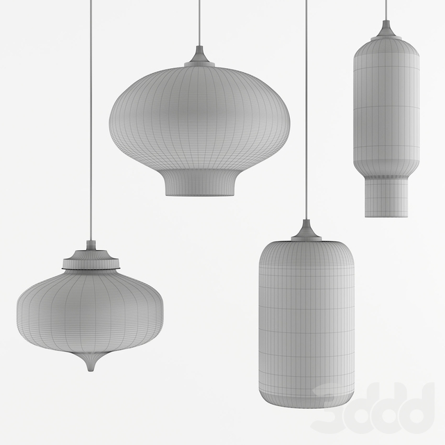 Newrays lamps set 4