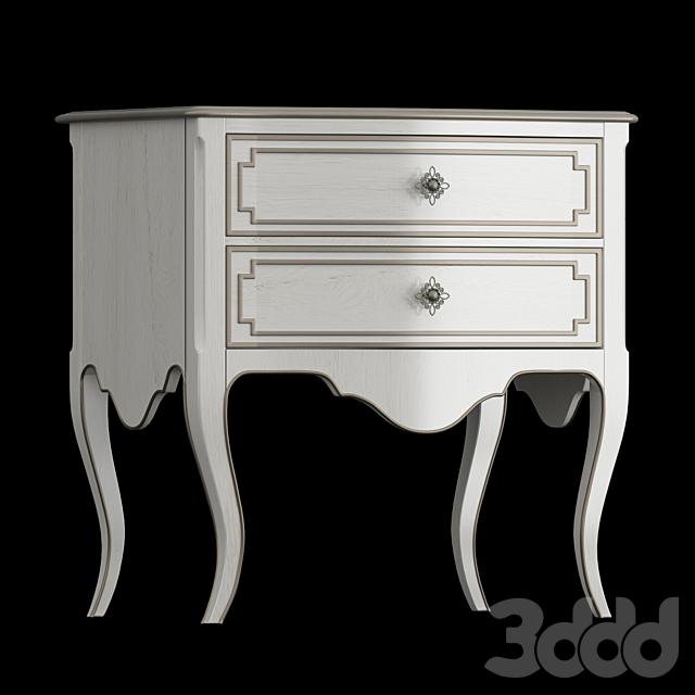 Hooker Furniture Bedroom Sanctuary Coco En Blanc Nightstand