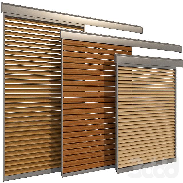 Раздвижные жалюзийные экраны для окон и дверей / Sliding Shutter for windows and doors