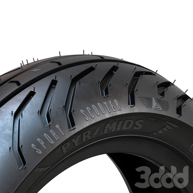 Bike tire tread Pyramids - 05