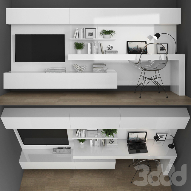 TV stand & workplace set 086