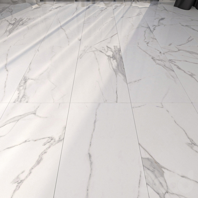 Marble Floor Afyon White Set 6