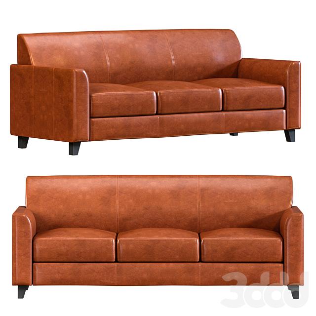 Hercules Cognac Leather Soft Sofa