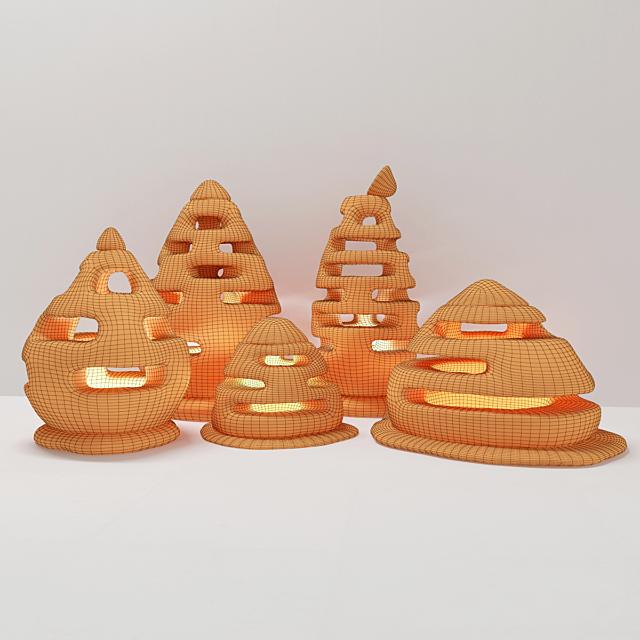 Уличные каменные светильники