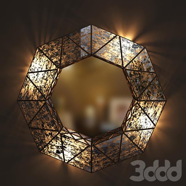 Dantone Home Зеркало Тина восьмиугольное с подсветкой