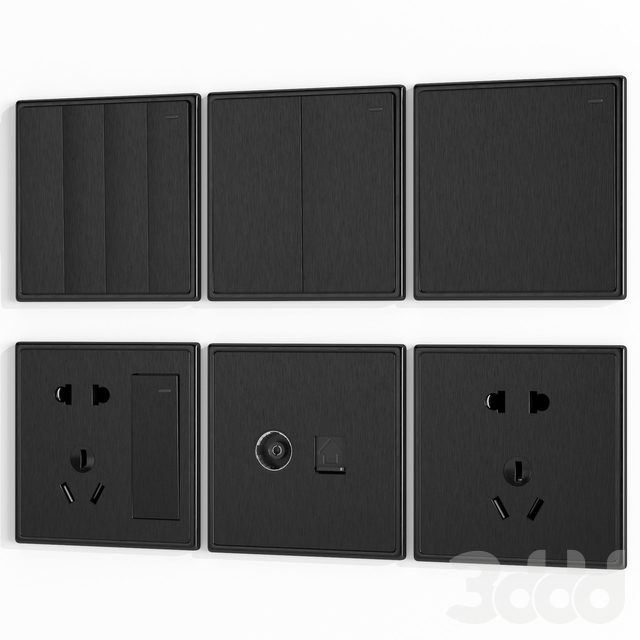 Brushed wall switches & sockets