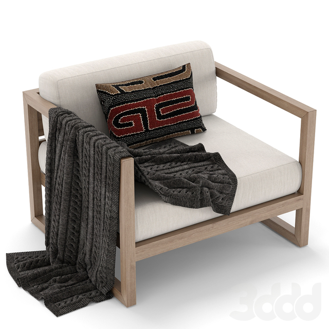 RH Outdoor Aegean armchair