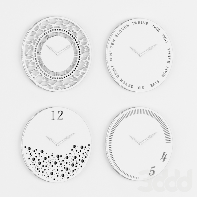 Wall Clocks Set 01