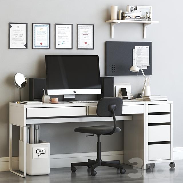 ikea micke scandinavian office workplace set