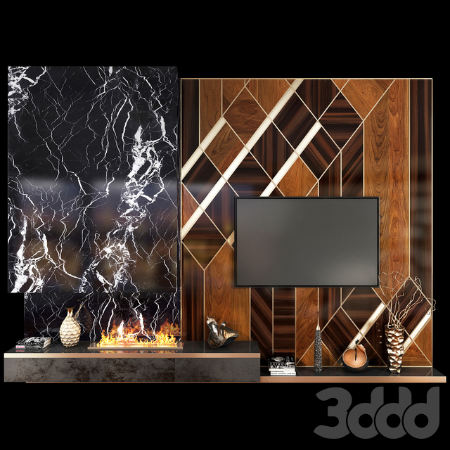 TV Wall Units set 03
