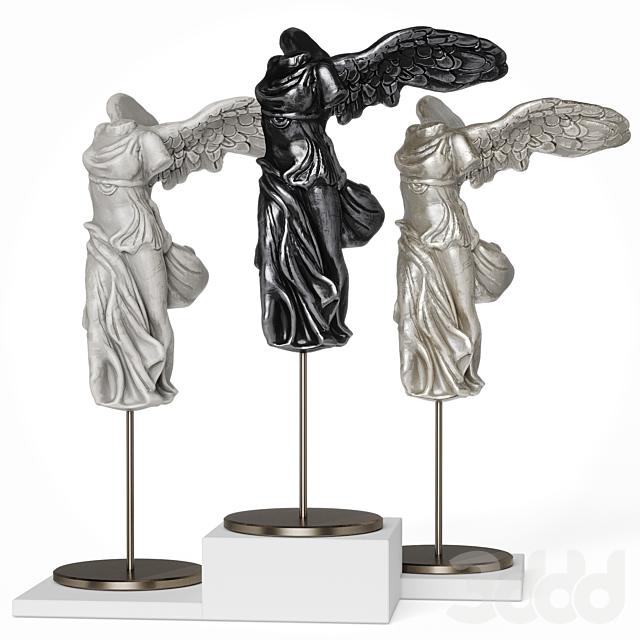 La Victoire de Samothrace statuette set