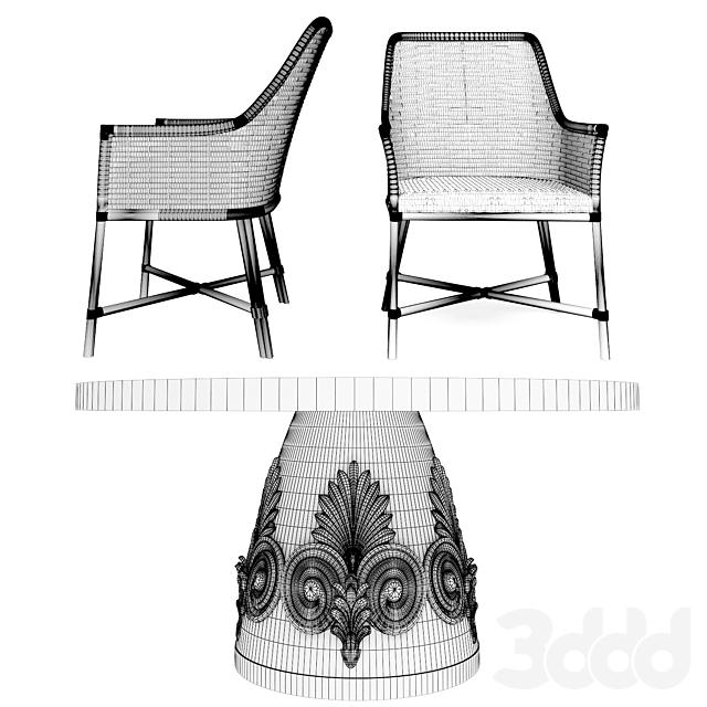 tommybahamafurniture, weston-round-dining-table