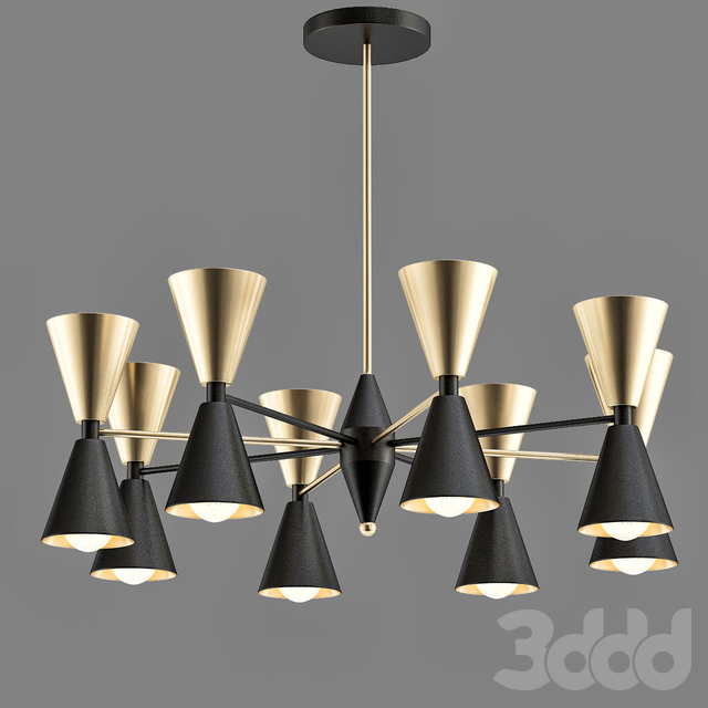 Cairo_Chandelier_Black_And_Gold