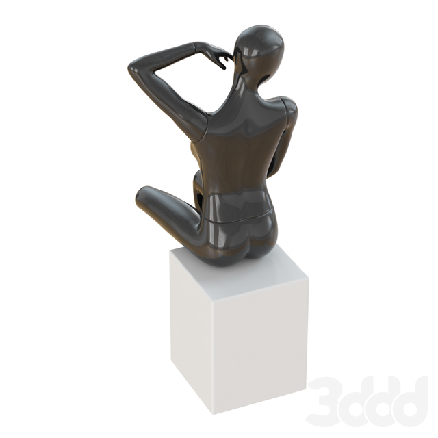 Seated black female mannequin 47