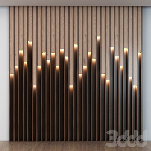 Wooden led panels 017