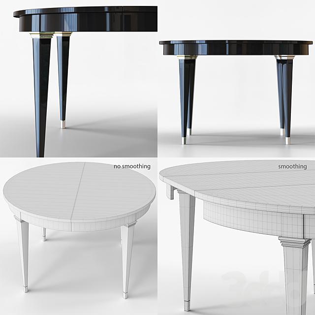 Круглый обеденный стол в стиле арт-деко.