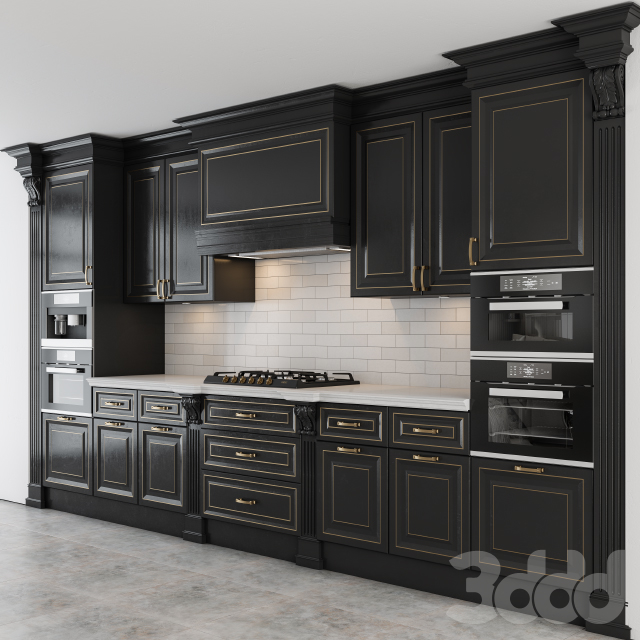 Black and Gold Lux Kitchen