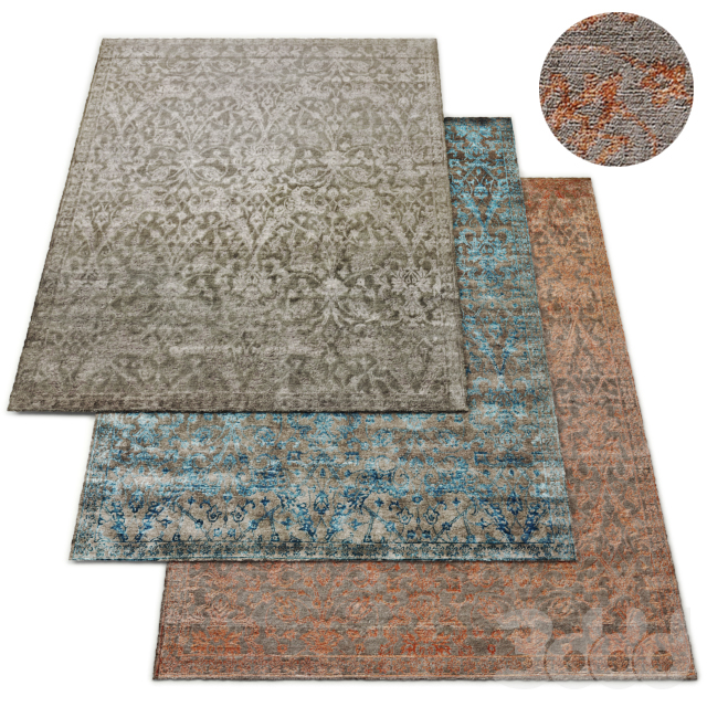 Flore Hand-Knotted Rug RH Collection