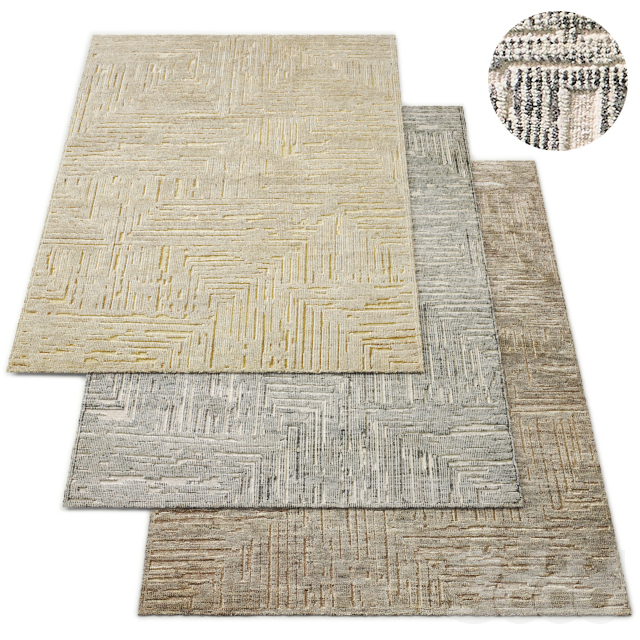 Labirinto Hand-Knotted Wool Rug RH Collection