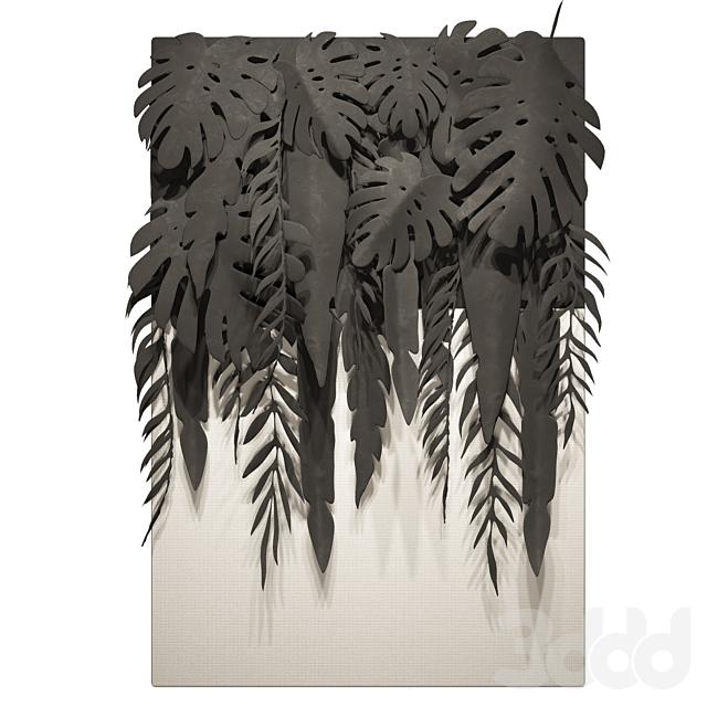 Панно Тропические Листья