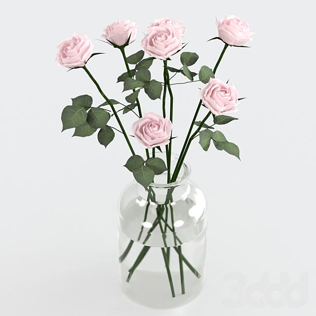 Розы в вазe