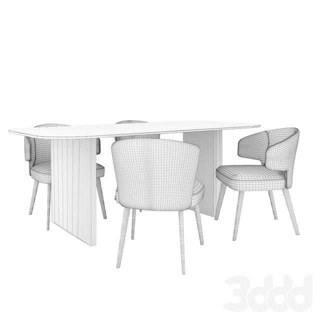 Minotti Set-Aston Chair and Table