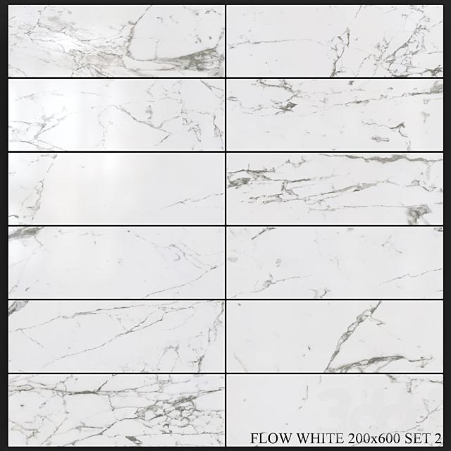 Yurtbay Seramik Flow White 200x600 Set 2