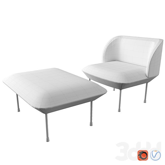 Oslo Lounge chair & Pouf By Muuto