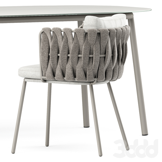 Tosca armchair and Tosca table by Tribu