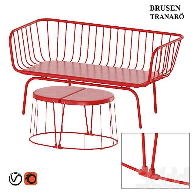 IKEA Brusen bench & TRANARO table
